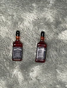 Minature Dolls House Accessorises Mini Jack Daniel's Bottled Drink x 2 Gift Set