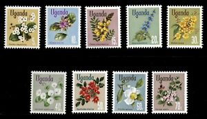 Uganda 1969 - FLOWERS - Set of 9 (Scott #115-23) - MNH