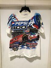 Vintage 1998 Michigan Speedway PEPSI 400 All Over Print T Shirt Sz M Nascar USA