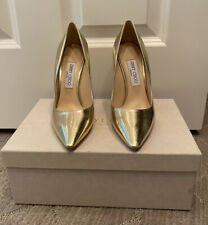 Jimmy Choo Romy Gold Mirrored Leather Pumps Size 39 BNIB