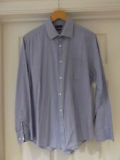 "PIERRE CARDIN Shirt Blue/White Pinstripe Smart/Casual Wear Cotton Size 16.5"""