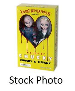 Mezco Living Dead Dolls Chucky & Tiffany Bride of Chucky Box Set (damaged box)