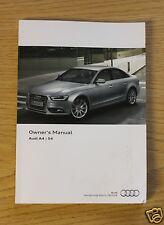 AUDI A4 S4 Berlina, Avant e ALLROAD Manuale Proprietari Manuale 2011-2015 LIBRO principale