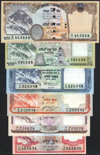 NEPAL 2008-09 EVEREST 1st issued Rs 5 to 500 set of 6, pick 60a to 64a & 66a UNC