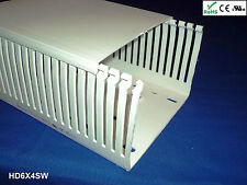 """4 New 6""""x4""""x2m Narrow Finger Open Slot Wiring Duct/Cable Raceway Cover, White"""
