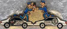 1996 Atlanta Police Passing Olympic Torch to 2000 Sydney Police Fantasy Pin