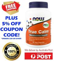 True Calm 90 Capsules NOW Foods - GABA B6 Magnesium Taurine Inositol - NEW STOCK