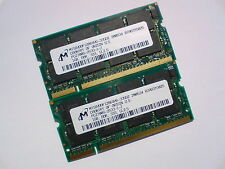 2GB 2x1GB PC2700 DDR333 CL2.5 SO-DIMM 333Mhz MICRON LAPTOP SODIMM RAM SPEICHER