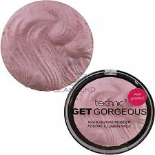 Get Gorgeous Highlighting Bronze Peach Gold Pink illuminatin Pressed Powder Face