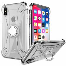 iLuv AIXCRING iPhone X/Xs Anti-shock Flexible Clear Case W/360 Degree Ring