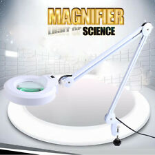 """5"""" Magnifying Lamp Light Green Glass Lens Round Head Magnifier White Color"""