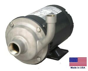 """STRAIGHT CENTRIFUGAL PUMP - 9300 GPH - 3 Hp - 230/460V - 2"""" In / 1.5"""" Out"""