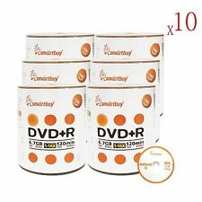 6000 Pcs Smartbuy 16X DVD+R 4.7GB Logo Top Data Video Blank Recordable Disc