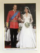 PRINCESS WILLIAM CATHERINE MIDDLETON ROYAL WEDDING 2011 COMMEMORATIVE PHOTOCARD