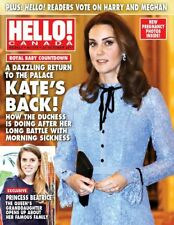 Hello Canada Exclusive Magazine Pregnant Kate's Back 2017 Oct #578  Brand New