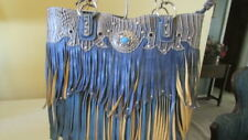 Fashion Tote  Fringed Bag Turquoise with Fringe Conceal and Carry