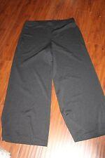 Chico's Travelers Travel Knit Black Pants Slacks sz 2 M L   (b122)
