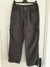 The North Face Womens Cargo Khaki/Grey Zip Off Legs Trousers  Size UK 8