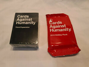 NEW!! Cards Against Humanity Third 3rd Expansion Pack + Holiday Bonus Pack
