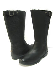 UGG JANINA WOMEN BOOTS WATERPROOF LEATHER BLACK US 11 /UK 9.5 /EU 43