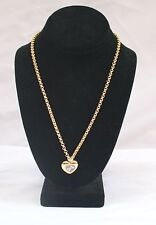 MAGNIFICENT CHAUMET PARIS 18K GOLD & DIAMOND HEART NECKLACE