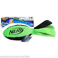 Nerf Dog Plush Squeaker Retriever Football Flyer, Large, Green  - Aussie Seller