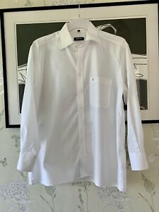 """Mens White Classic Fit Non-Iron Cotton Shirt From ETERNA EXCELLENT  - Size 16.5"""""""