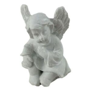 Figurine Bébé Ange Blanc 4cm Statuette Chérubin Mystique Angel + Sac Cadeau