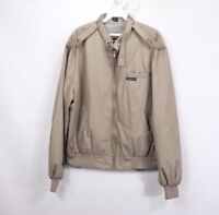 Vintage 90s Members Only Mens 44 Large Spell Out Full Zip Bomber Jacket Gray