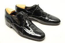 Bally Timor Mens Tuxedo Shoes 10 EEE Black Patent Leather Plain Toe Formal