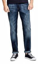 Jack & Jones Jeans Mens Clark Regular Fit Straight Denim Pants Ge255 Blue Rinsed 30 In. 30l