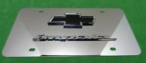 Chevrolet Impala Logo & Word Stainless Steel License Plate OEM