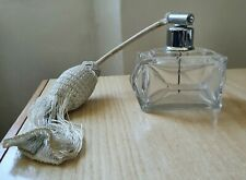Antica bottiglia porta profumo in cristallo vetro con pompetta art deco 900