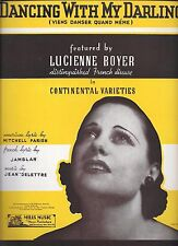 Continental Varieties 1933 Dancing With My Darling LUCIENNE BOYER Sheet Music
