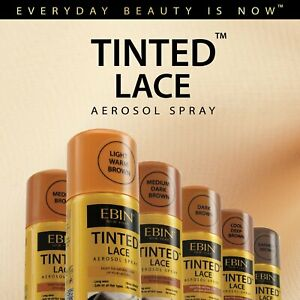Ebin New York Tinted Lace Aerosol Spray, Wig Lace Tint Spray 80ml