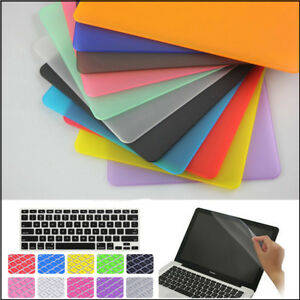 """3in1 Hard Plastic Matte Case Cover Skin (no Cut-out) for MacBook White 13"""" A1342"""