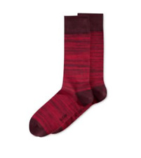 Alfani Men's Space-Dyed ,Red/Merlot, Dress Socks