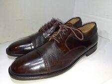 MEZLAN Napoli  Brown Leather Cap Toe Oxford Dress Shoes Mens Size 9.5 M