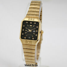NEW CITIZEN BATTERY QUARTZ WATCH for Women * Gold Tone White Gift Box * 15D_W54