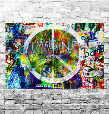 STUNNING ABSTRACT GRAFFITI POP ART #8 QUALITY CANVAS PICTURE WALL ART A1
