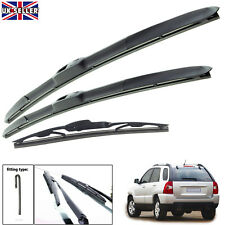 "Kia Sportage 2004-2010 hybrid wiper blades set of front & rear 24""16""13""T"