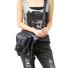 Steampunk PU Leather Hip Leg Punk Goth Waist Shoulder Messenger Bag