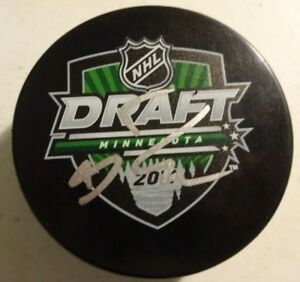 Autographed RYAN NUGENT-HOPKINS Signed 2011 NHL Draft Puck Edmonton Oilers