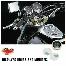 "1.1"" Mini Digital Clock Stick-On Mount Watch For Car Motorcycle Motorbike Bike"