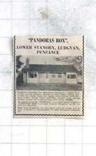 1975 Detached Two Bedroom Bungalow Lower Stanory, Ludgvan Penzance £10,500