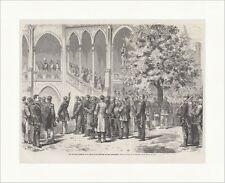 Rede des Grafen Stillfried an der Burg v. Hohenzollern Mende Holzstich E 17653