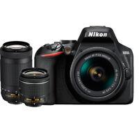 Nikon D3500 24.2MP DSLR Camera w/ AF-P 18-55mm VR Lens&70-300mm Dual Zoom Lens