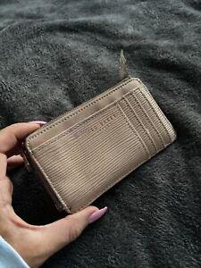 Ted Baker Purse Card Holder Money Wallet Women's Beige/ Pink