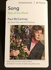Paul McCartney - Beatles re / Starbucks 2012 iTunes Card / New