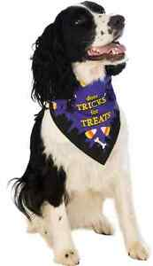 Tricks for Treats Bandana Bandanna Neck Halloween Pet Dog Cat Costume Accessory